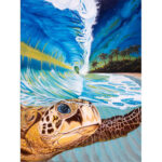 DIY Digital Oil Painting By Numbers Kits Sea Turtle Drawing Animal Picture