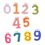 Wooden Number Fridge Magnets Sticker Kids Toys Refrigerator Decor (Number)