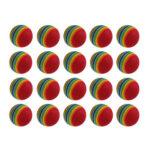 20pcs Sponge Rainbow Ball Indoor Outdoor Golf Hitting Putting Practice Aids