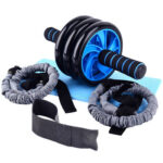 5x Ab Roller Fitness Equipment Abdominal Wheel with Kneeling Pad Pull Rope