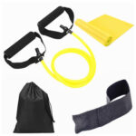 4pcs/set Elastic Resistance Bands Fitness Training Pull Rope Towel (Yellow)