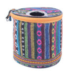 Ethnic Paper Towel Tissue Holder Case Outdoor Camp Roll Paper Storage Box