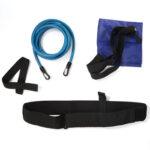 Latex Tube Swimming Training Resistance Belt Strength Trainer Rope (Blue)