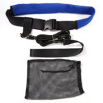 Adjustable Latex Tube Swimming Strength Training Resistance Belt (Blue)