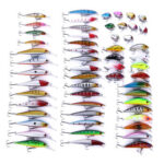 56pcs Minnow Fishing Lure Crankbait Attractant 10g ABS Wobblers False Bait