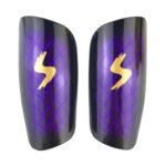 2pcs Outdoor Football Shin Guard Pads Soccer Calf Shield Sleeves (Purple)
