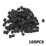 100pcs Plastic Tire Valve Stem Air Caps Dust Covers with Seal for Car Bike