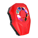 Portable Phone Clip Cooling Fan USB Powered Mobile Gaming Heat Sink (Red)
