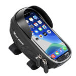 WEST BIKING Bike Handlebar Reflective Phone Bag MTB Bicycle Top Tube Bags