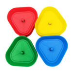 4pcs/Set Triangle Shaped Poker Card Holder Hands-Free Playing Cards Board