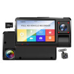 Phisung K13 Dual Lens Car DVR Dash Cam with Rear View Camera + 16GB TF Card