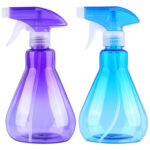 2pcs Rotating Sprinkler Head Mist Spray Bottles Salon Empty Plastic Bottles