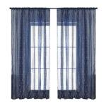 1.4×2.6m Navy Blue Window Screening Modern Voile Sheer Decoraion Curtains
