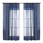 1.4×2.6m Navy Blue Modern Curtains Voile Tulle Sheer Home Window Screening
