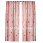 Sanding Blackout Curtains Blind Panel Fabric Shading Drapes (Love 1.4×2.6m)
