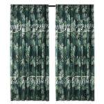 Brushed Blackout Curtain Blind Fabric Shading Drapes (Rainforest 1.4×2.6m)