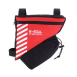 B-SOUL 1.5L Bike Triangle Bag Front Tube Frame Water Bottle Pouch (Red)