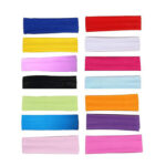 14pcs/set Yoga Headband Sports Fitness Soft Elastic Sweatband Hair Bandage