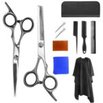 Stainless Steel Hair Scissors Combs Hairpins Salon Barber Haircut Tool Set