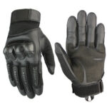 2pcs Outdoor Camp Gloves Climbing Touchscreen Motorcycle Gloves (Black M)