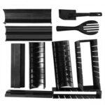 10pcs/set Sushi Maker Roller Sushi Bazooka Vegetable Meat Rolling Rice Mold