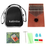 17 Keys Kalimba Percussion Musical Instrument Mahogany Thumb Finger Piano