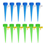 12pcs Adjustable Self Watering Plant Stakes Automatic Drip Flower Spikes
