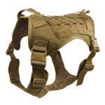 Waterproof Molle Nylon Harness Outdoor Hunting Training Dog Vest (Khaki L)