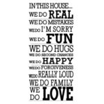 Removable PVC Bedroom Wall Posters Sticker English Family Love Decor