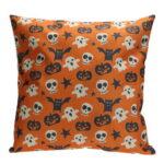 Halloween Pumpkin Ghost Pattern Cotton Pillow Cover Pillow Cushion