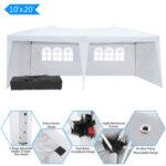 3 x 6m Two Windows Practical Waterproof Folding Tent White-39862536