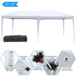 3 x 6m Home Use Outdoor Camping Waterproof Folding Tent with Carry Bag White-31498275