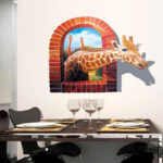 Special Dull Polish 3D Giraffe Removable PVC Wall Sticker Room Decal Art