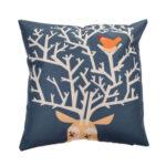 Vintage Elk Bird Cotton Linen Cushion Cover Pillow Case Home (style C)