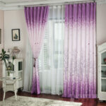 Pachira Printed  Tulle Curtain Voile Door Window Curtain Purple c