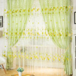 Door Window Scarf Sheer Floral Curtain Drape Panel Voile Valances
