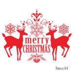 Snow Deer Christmas Vinyl Decor Art Home Removable Wall Window Sticker (44