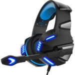 V-3 Stereo Gaming Headset Wired Headphones with Mic + LED Light for PS4 PC