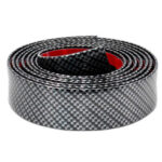3m Rubber Car Trim Strip Carbon Fiber Look Bumper Door Sill Protector (5cm)