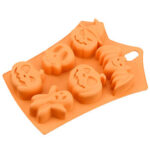 Halloween Silicone Cake Mold Pumpkin Ghost Bat Shape Biscuits Mold DIY Tool