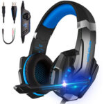 G9000 Gaming Headset Wired 40mm Driver Headphones with LED Light + Mic
