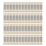 100pcs Bamboo Practice Golf Tees Striped Ball Holder Cushion Tee (White)