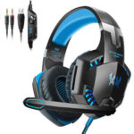 G2000 3.5mm Wired Lighting Gaming Headphone Deep Bass Computer PC Headset