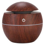 Electric Wood Grain Humidifier Mushroom Shape Home Ultrasonic Air Diffuser