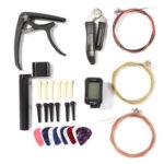Picks Tuner Capo Bridge Pin Combo Guitar String Changing Repair Tools Kit