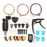 Guitar Repair Care Tools Kit Finger Guards Strings Picks Capo Pin Combo