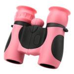 8X21 Children Binocular Scope Outdoor Bird Watching Telescope Toys (Pink)
