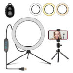 Dimmable Selfie Ring Light Stand Video Photog Live Bluetooth Control Tripod