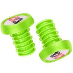 1 Pair WEST BIKING MTB Bike Handlebar Stopper Bicycle Grip Bar Plug (Green)