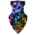 Seamless Triangle Face Mask Unisex Outdoor Cycling Digital Print Scarf (J)